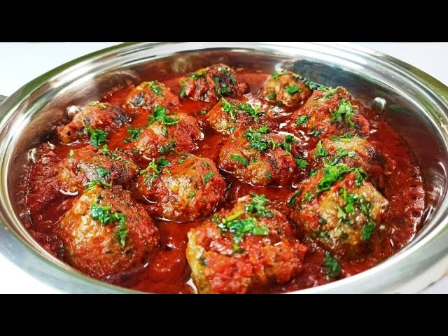 Meatballs Recipe: How to Make Meatballs (Easy Homemade Meatballs with  Sauce) - YouTube