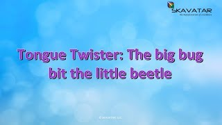 Tongue Twister The Big Bug Bit The Little Beetle 92 FAIL Trying