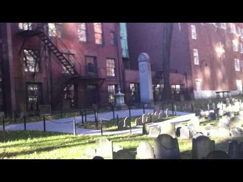 Visiting the historic Granary Burying Ground - Boston, MA