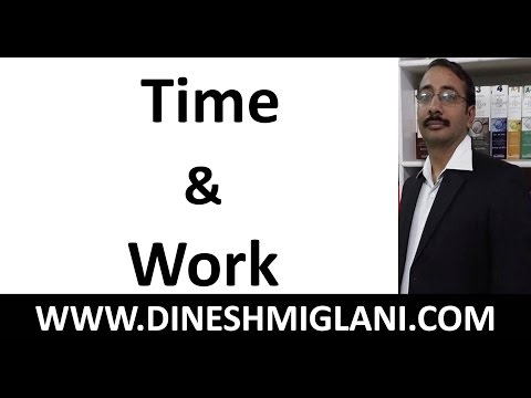 Best Shortcuts and Tricks of  Time and Work for SSC SBI Pre and Mains by Dinesh Miglani