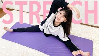 【前後開脚】高校生モデルと一緒にゆがみ改善ストレッチでガチガチほぐし【stretch with me】