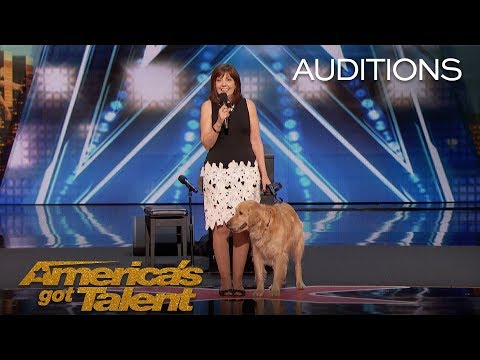 Oscar & Pam: Singing Dog Wins America's Heart - America's Got Talent 2018