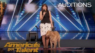 Oscar & Pam: Singing Dog Wins America's Heart  America's Got Talent 2018