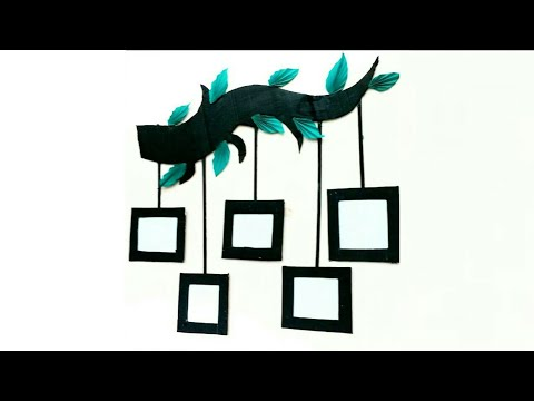 Diy photo frame | photo frame decoration idea | wall decoration idea | cardboard craft | #MA102