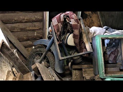 Нашёл мотоцикл в заброшенной деревне! 6+