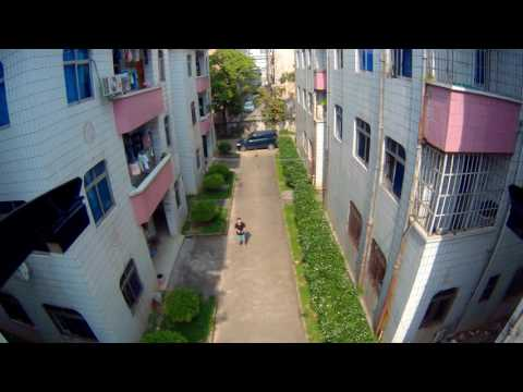 JXD 506W RC quadcopter carry 4K action camera video sample