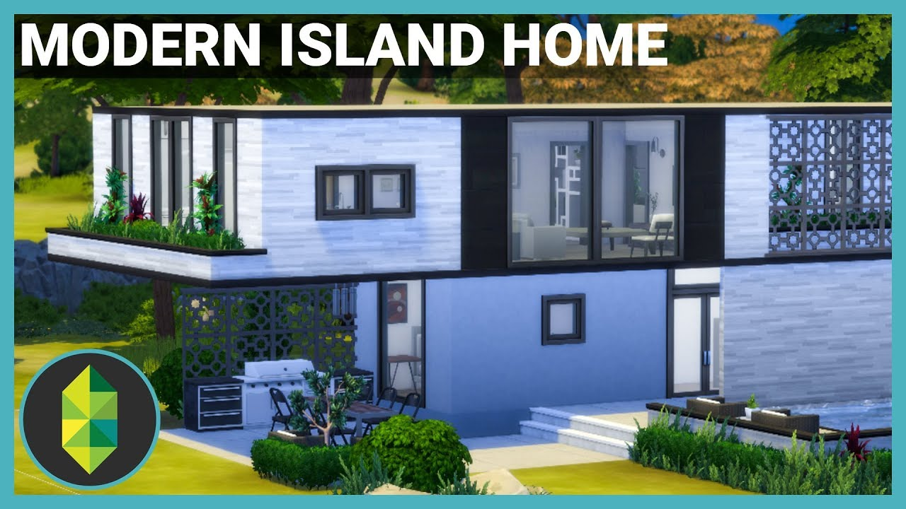 Modern Island Home - The Sims 25 House Build