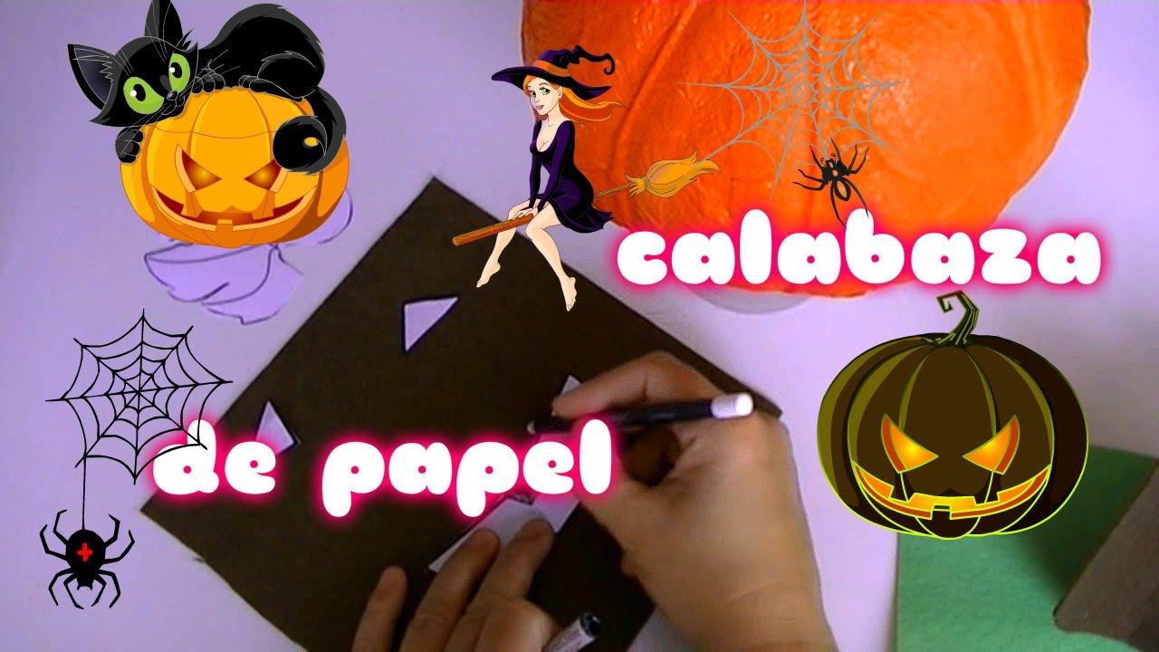 Calabaza de halloween con papel reciclado manualidades - Manualidades de papel reciclado ...
