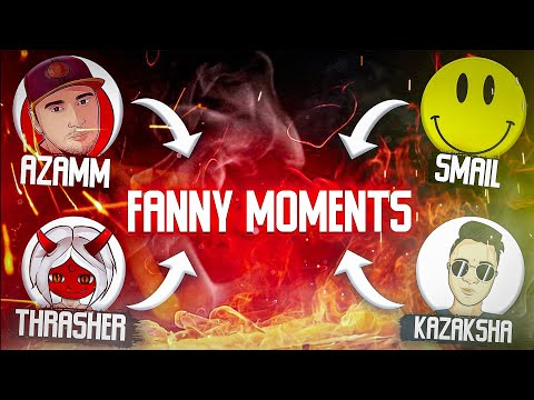 THRASHER, AZAMM, SMAIL AND KAZAKSHA FUNNY MOMENTS | FREE FIRE