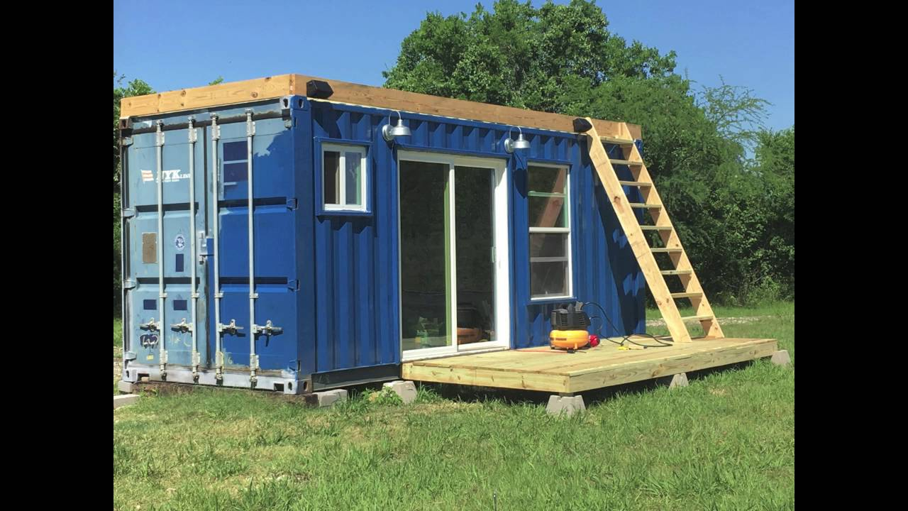 Rustic Retreat Container Tiny Home Build Process Youtube