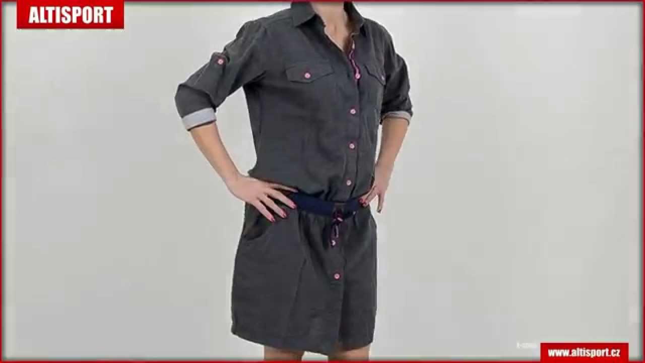 c4027e64103 dámské šaty loap natura ccw1508 šedá - YouTube