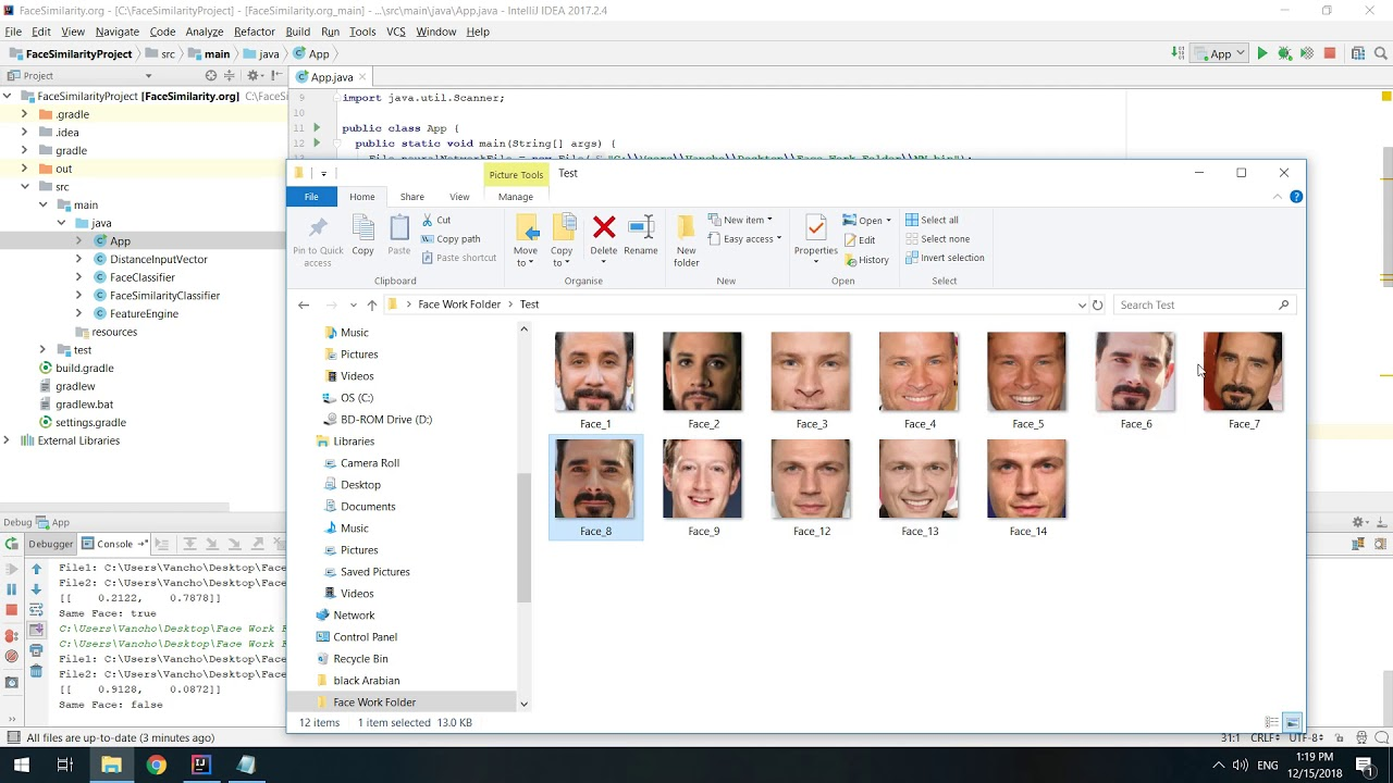 Face Similarity/Grouping using OpenCV, DeepLearning4J with Java - Code  Included