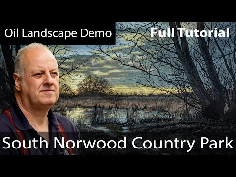 Painting a Landscape in oils demonstration Long Version