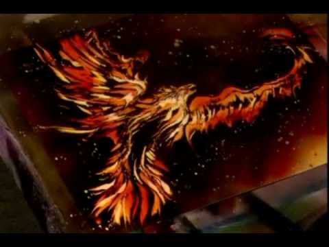 Sex On Fire Bird By Matt Sorensen Spray Paint Can Space Art Youtube