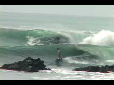 Crystal Blue some of Costa Rica's best Surf  segment 1 Surfing close to death