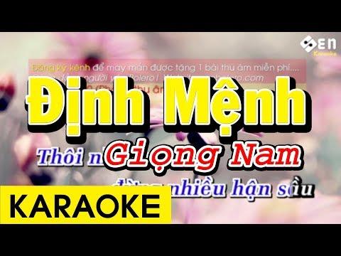 Định Mệnh - Karaoke Beat Giọng Nam