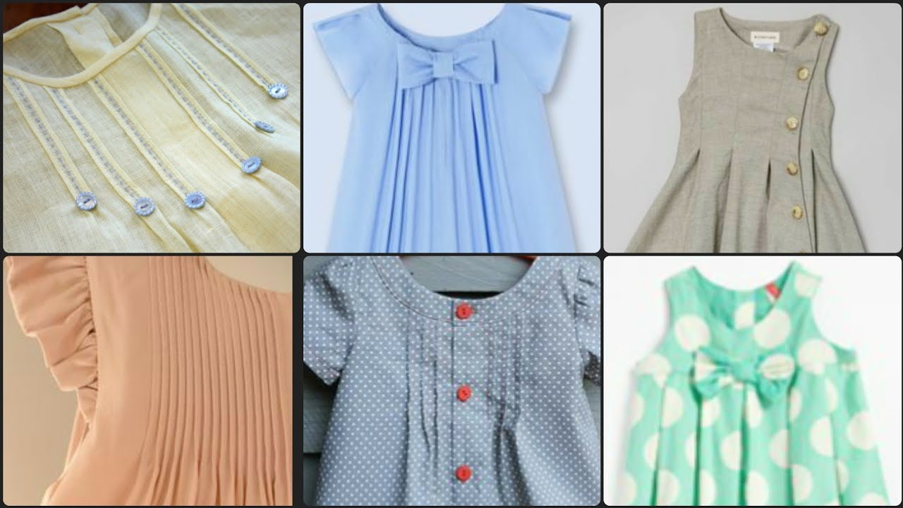 Very Creative girl baby Frocks and top Designs with Pintuks/Pleated Frocks Designs For 1 To 7 Year