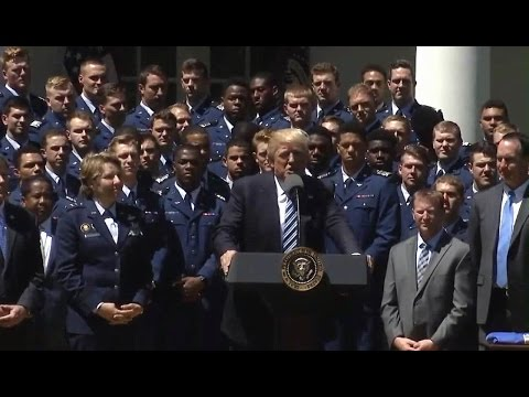 FULL Pres. Trump honors US Air Force Academy football team. presents Commander-in-Chief Trophy