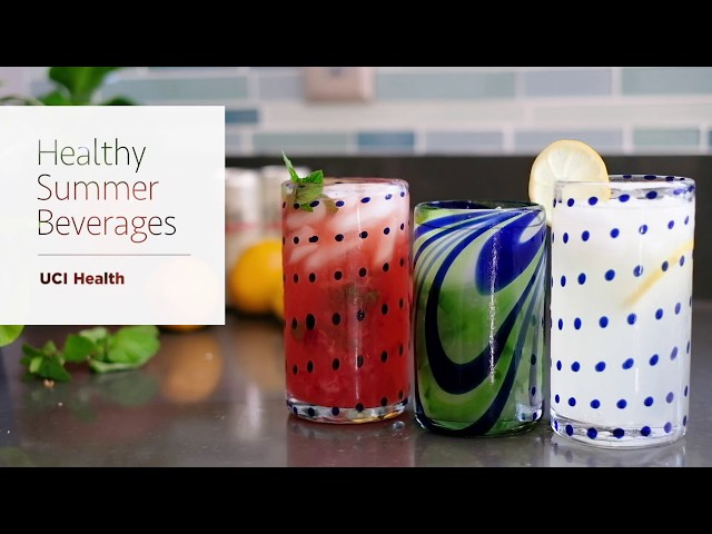 Healthy, refreshing summer beverages