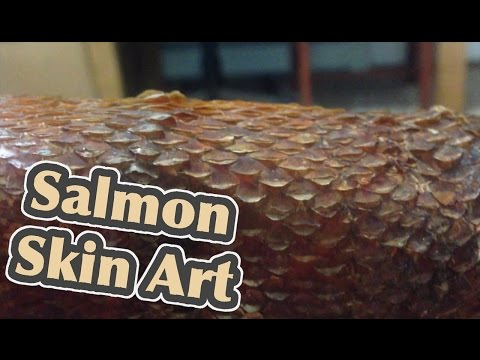 Turning Salmon Leather In To Art