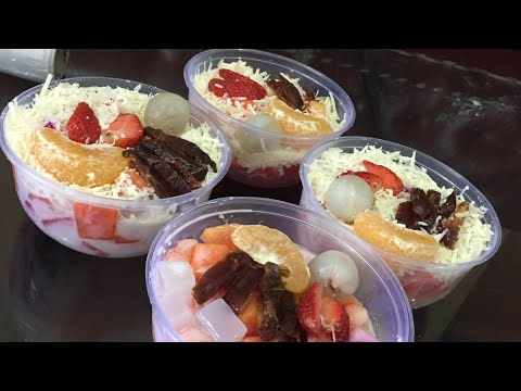 Resep Cara Membuat Salad Buah Segar | HOW To make Fruit Salad Yummy And Tasty