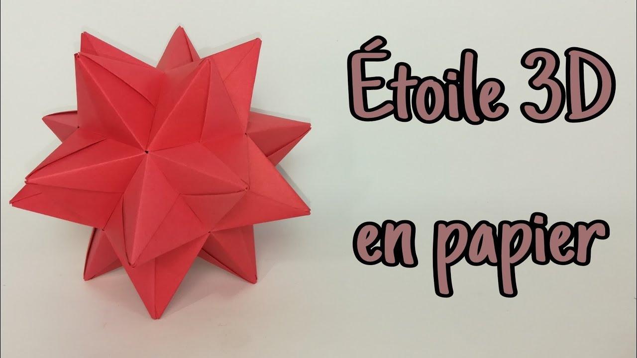 origami etoile 3d en papier origami modulaire
