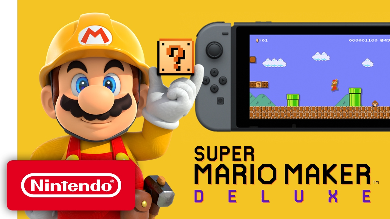 Super Mario Maker Deluxe Nintendo Switch Trailer Youtube
