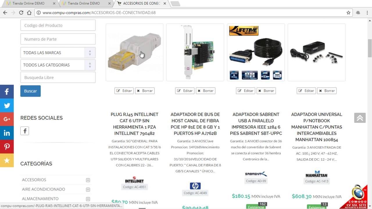 Conector XML CVA / PCH - Tienda Online