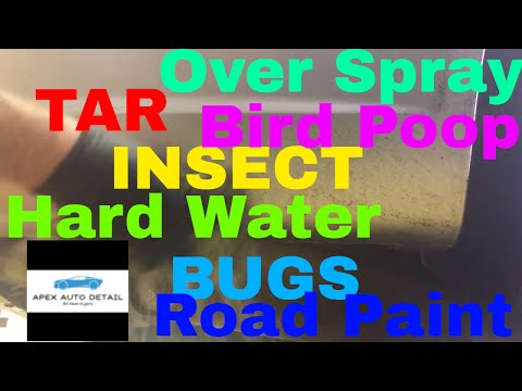How to remove Tar, Bird Droppings, Insect Splatter, Over Spray, Etc. With just one Product! RAINX!!