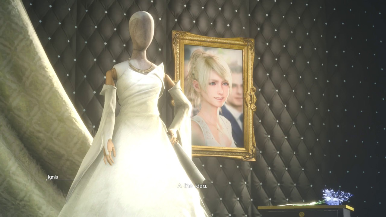 Final Fantasy 18 Get to Vivienne Westwood Store See Lunafreya Wedding Dress