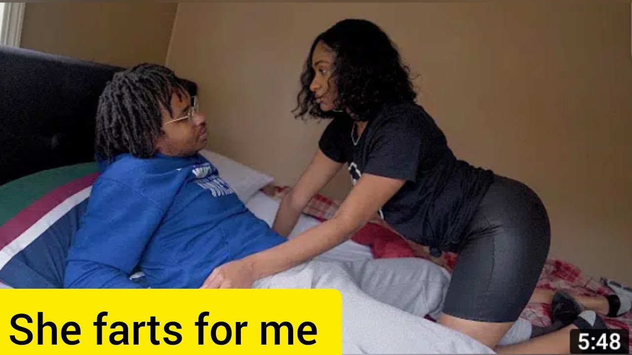 Girl farts when his man finds her with another man - YouTube