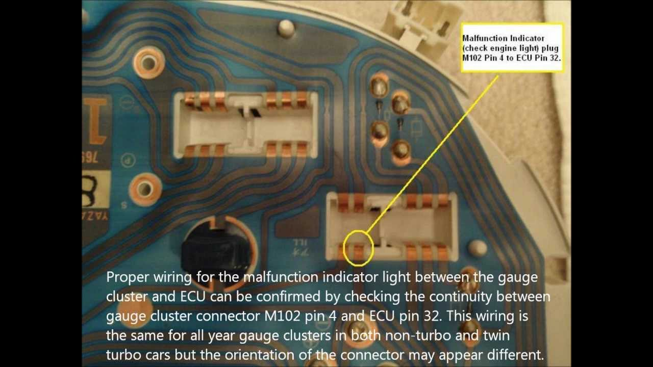 Malfunction Indicator Lamp Continuity Check Nissan 300ZX Z32