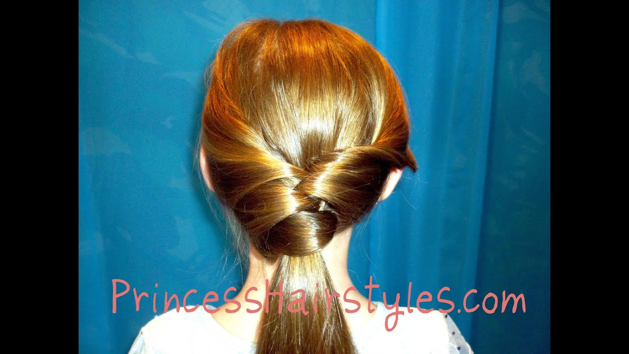 Twisted Fancy Ponytail Styles Hair4myprincess - YouTube
