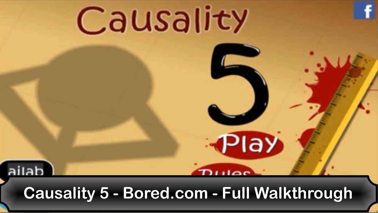causality 5 boredcom full walkthrough youtube - Causality Halloween Walkthrough