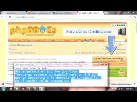 Instalacion de un Foro phpbb paso a paso en una web gratuita por medio de cliente FTP