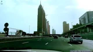Путевые Заметки.ОАЭ, июнь 2019: на такси от Dubai Marina, мимо Dubai Downtown, до Festival City