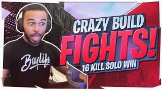 CRAZY BUILD FIGHTS! AGGRESSIVE 16 KILL SOLO (Fortnite BR Full Game)