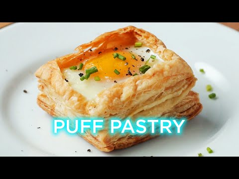 How to make shells from puff pastry sheets