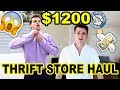 THRIFT SHOP MASSIVE $1200 THRIFT STORE HAUL FOR MEN AND WOMEN ON A BUDGET