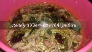 pachi pulusu rasam with out cooking raw tamarind rasam  telangana special pachi pulusu instant charu