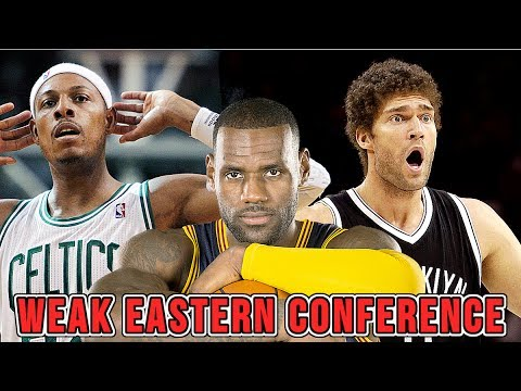 Is the Eastern Conference WEAK or is LeBron too DOMINANT?