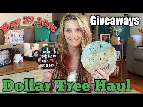 Dollar Tree Haul 💚New Items💚Giveaways 😁May 27,2018