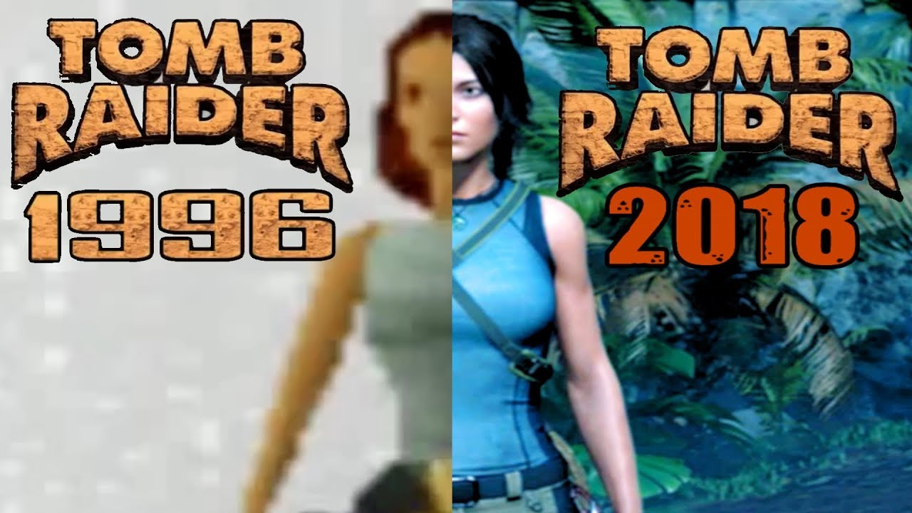 Evolution Of Lara Croft 1996 2018 Updated To Shadow Of The Tomb