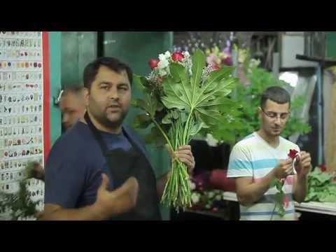 Getting Flowers Ready for Shavout 5774 in Jerusalem |  הכנת פרחים לשבועות בירושלים