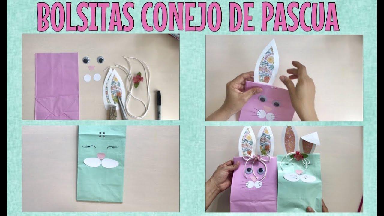 76482513a BOLSA DE PAPEL: DECORADA CON CARITA DE CONEJO/PARA DULCES - YouTube