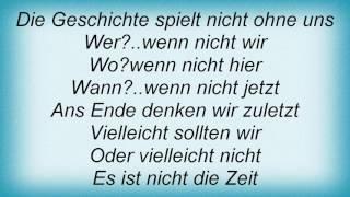 Sportfreunde Stiller - Ans Ende Denken Wir Zuletzt Lyrics
