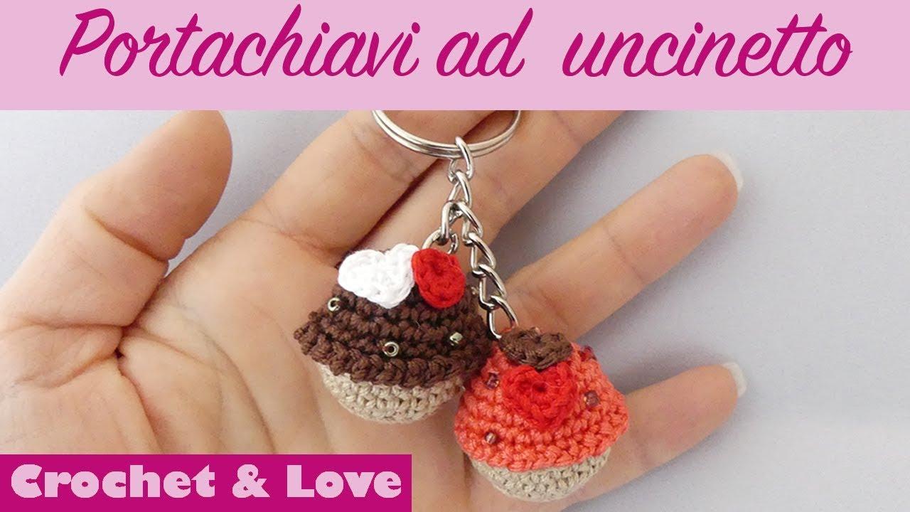 Tutorial Portachiavi Mini Cupcake Ad Uncinetto Sub Eng Y Esp