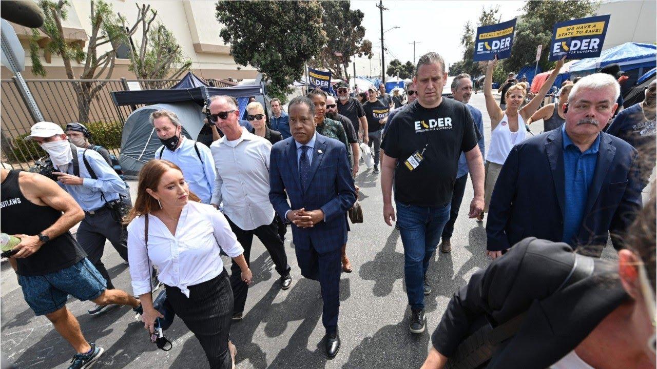 Egg Thrown at GOP Gubernatorial Recall Candidate Larry Elder
