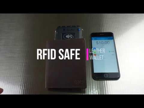 RFID SAFE LEATHER WALLET