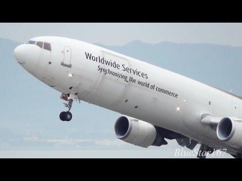 (late takeoff) United Parcel Service (UPS) McDonnell Douglas MD-11F (N254UP) from KIX/RJBB 06R